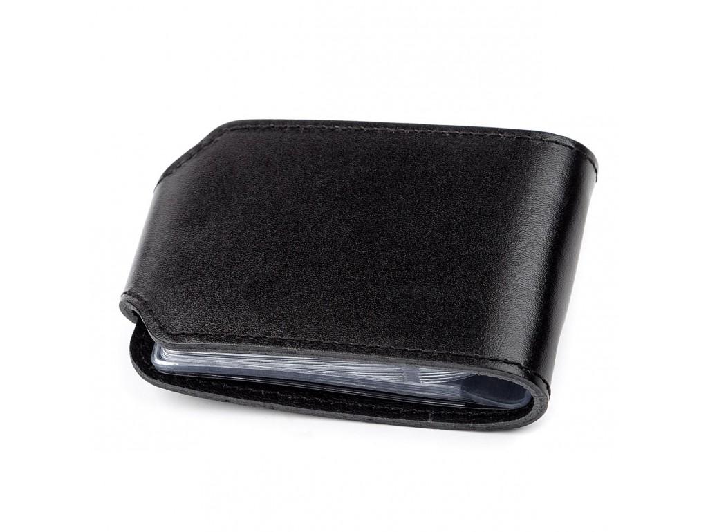 Холдер горизонтальный Shvigel 13915 кожаный Черный, Черный - Royalbag