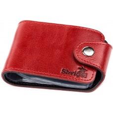 Холдер горизонтальный Shvigel 13913 кожаный Красный, Красный - Royalbag