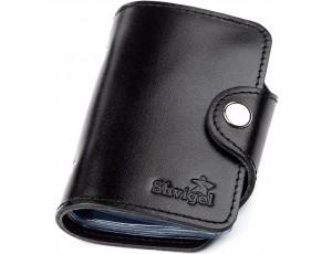 Холдер вертикальный Shvigel 13911 кожаный Черный, Черный - Royalbag