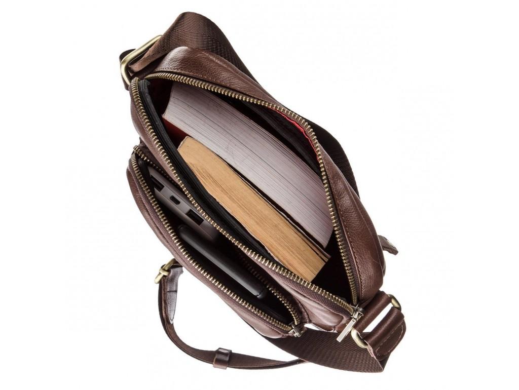 Мужская кожаная сумка SHVIGEL 19112 Коричневая, Коричневый