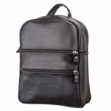 Рюкзак женский SHVIGEL 15304 кожаный Черный, Черный - Royalbag