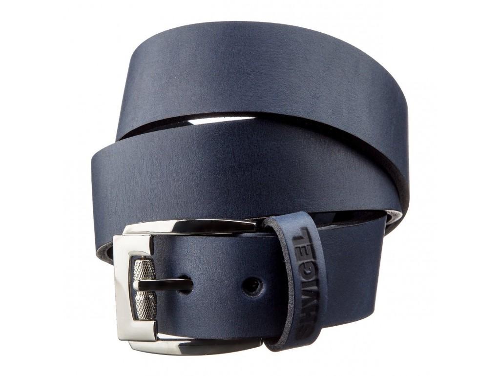 Классический мужской ремень SHVIGEL 11254 кожаный Синий, Синий - Royalbag