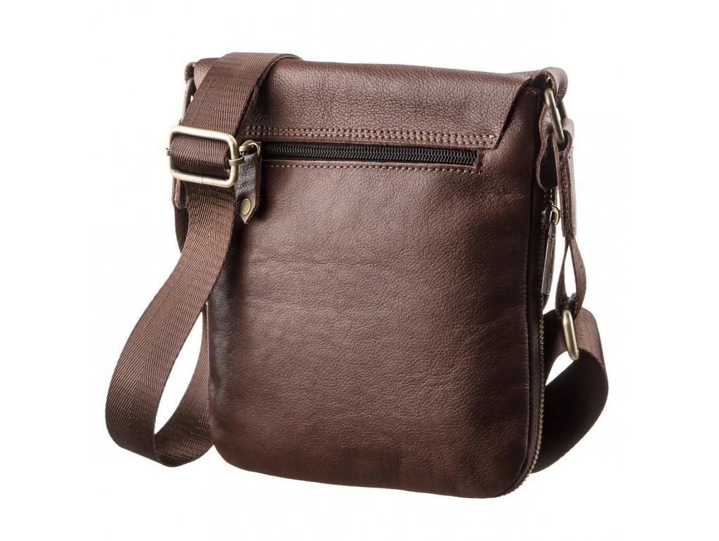 Мужская кожаная сумка планшетка SHVIGEL 19114 Коричневая, Коричневый