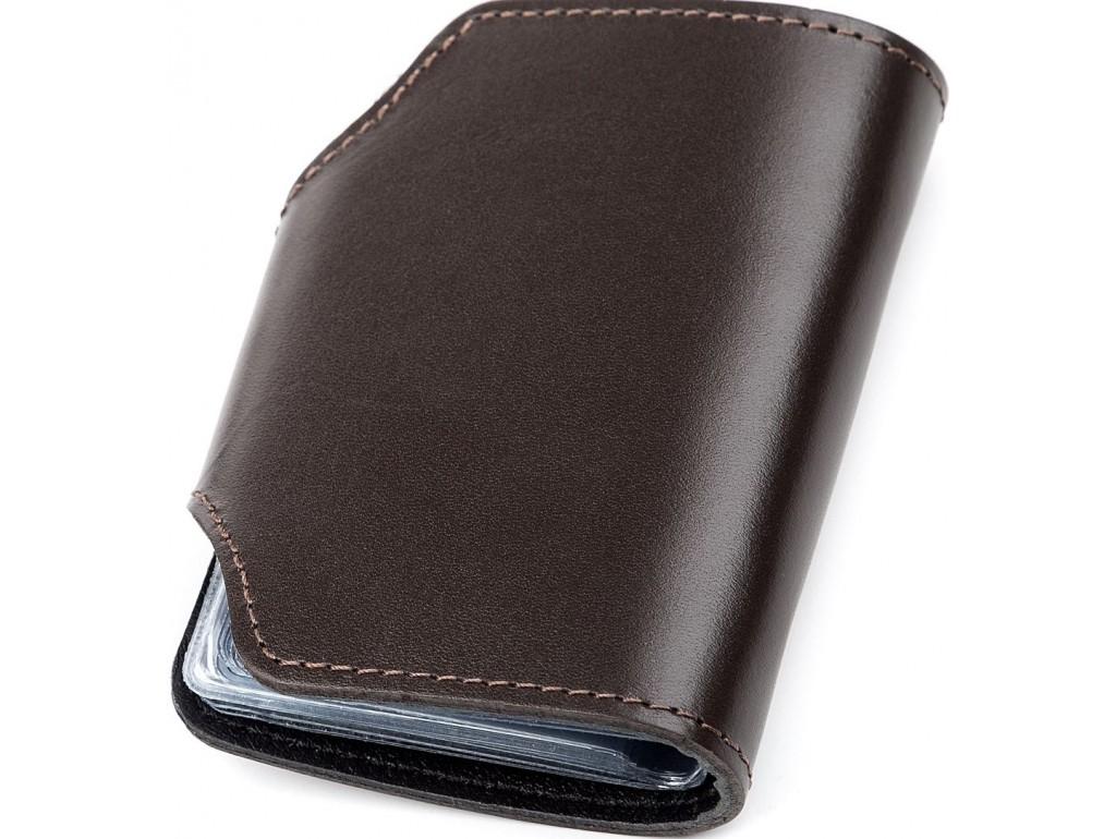 Холдер вертикальный Shvigel 13912 кожаный Коричневый, Коричневый - Royalbag