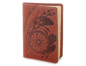 Эксклюзивная обложка для паспорта из винтажной кожи SHVIGEL 13792 Красная, Красный - Royalbag