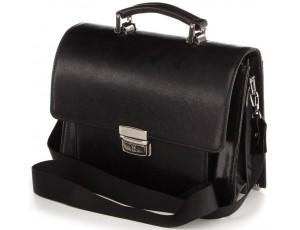 Барсетка SHVIGEL 00369 из натуральной кожи Черная, Черный - Royalbag