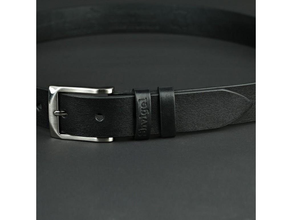 Ремень SHVIGEL 11021 брючный Черный, Черный - Royalbag