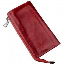 Яркий женский клатч кожаный SHVIGEL 16185 Красный, Красный - Royalbag