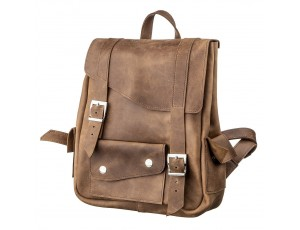 Рюкзак из кожи Crazy horse унисекс SHVIGEL 13948 Коричневый., Коричневый - Royalbag