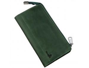 Клатч унисекс кожаный винтаж SHVIGEL 16188 Зеленый, Зеленый - Royalbag