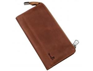 Клатч унисекс кожаный винтаж SHVIGEL 16190 Рыжий, Рыжий - Royalbag