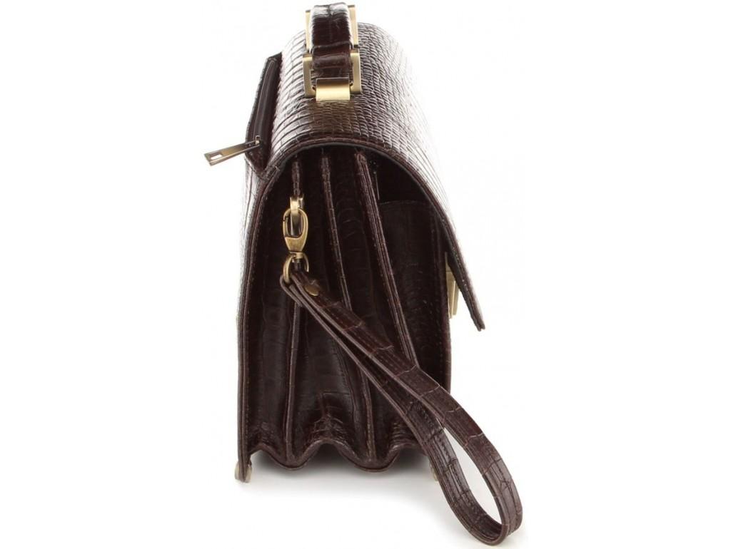 Барсетка SHVIGEL 00368 из натуральной кожи Коричневая, Коричневый - Royalbag