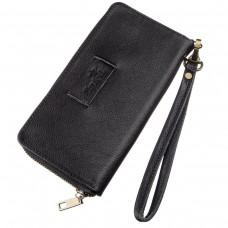 Мужской горизонтальный кожаный клатч SHVIGEL 19123 Черный, Черный - Royalbag