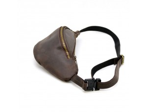 Стильная сумка на пояс бренда TARWA RC-3036-4lx в коричневой коже Крейзи Хорс - Royalbag