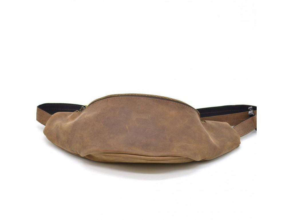 Сумка на пояс RB-3036-4lx из натуральной коричневой кожи от бренда Tarwa - Royalbag