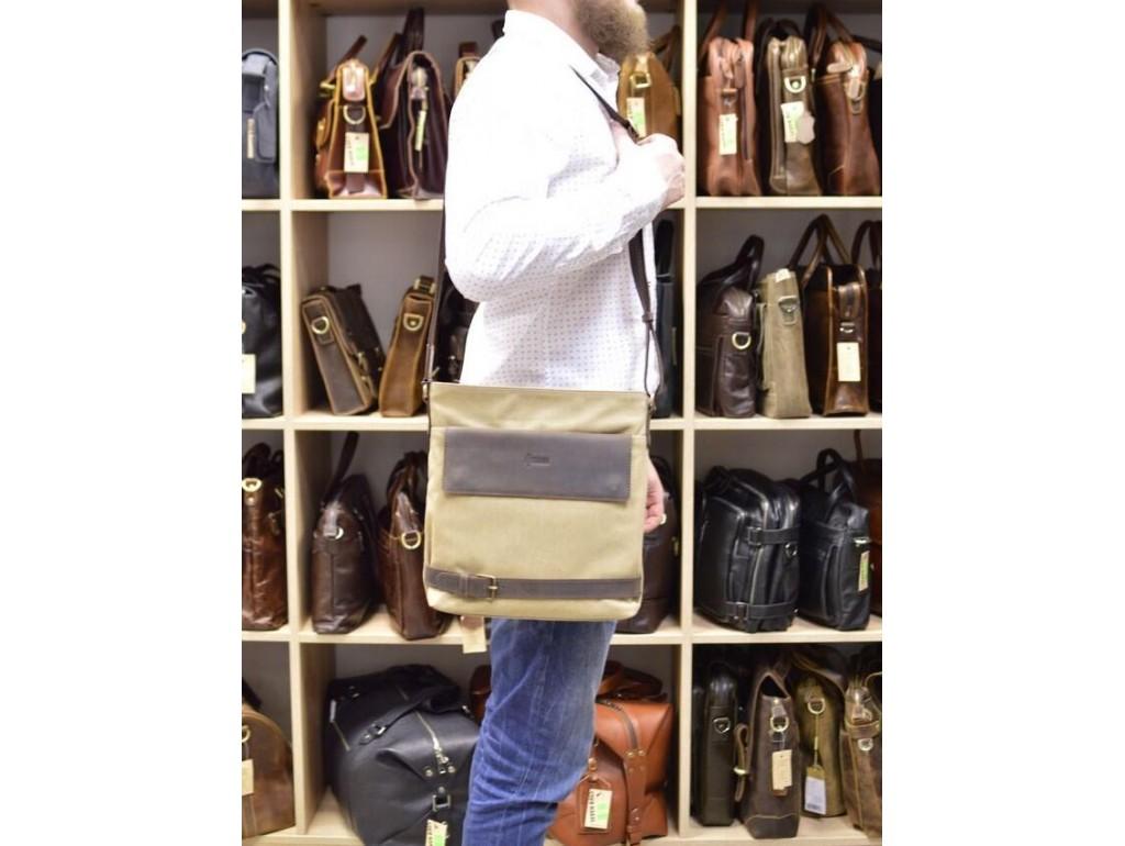 Мужская сумка парусина+кожа RG-0040-4lx бренда Tarwa - Royalbag