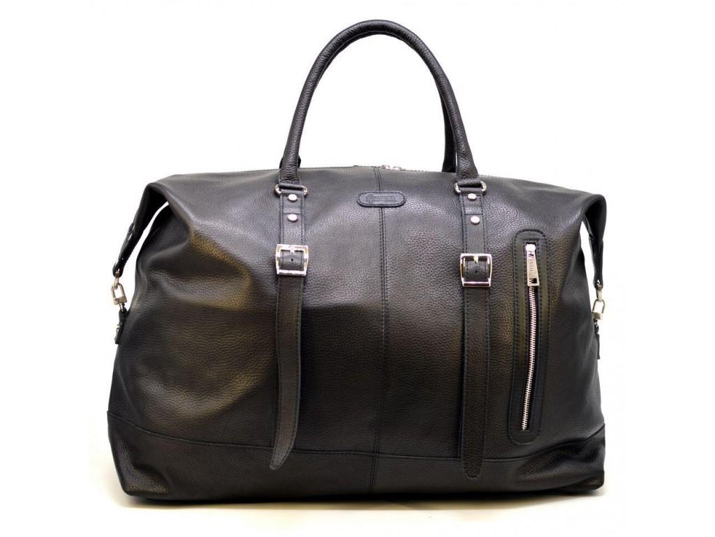 Большая дорожная сумка FA-8310-4lx из натуральной кожи флотар, черная - Royalbag