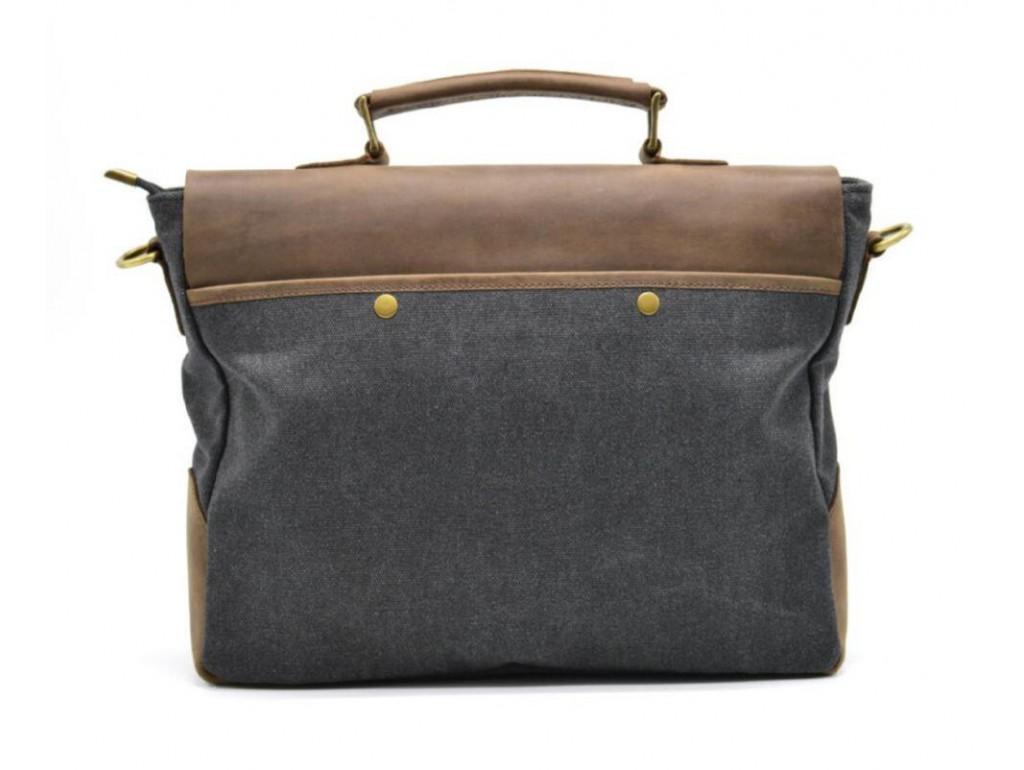 Мужская сумка-портфель кожа+парусина RG-3960-4lx от украинского бренда TARWA - Royalbag
