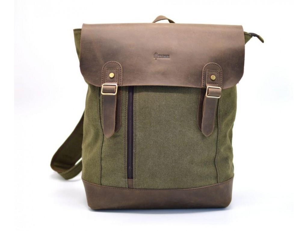 Рюкзак городской, парусина+кожа RH-3880-3md от бренда TARWA - Royalbag
