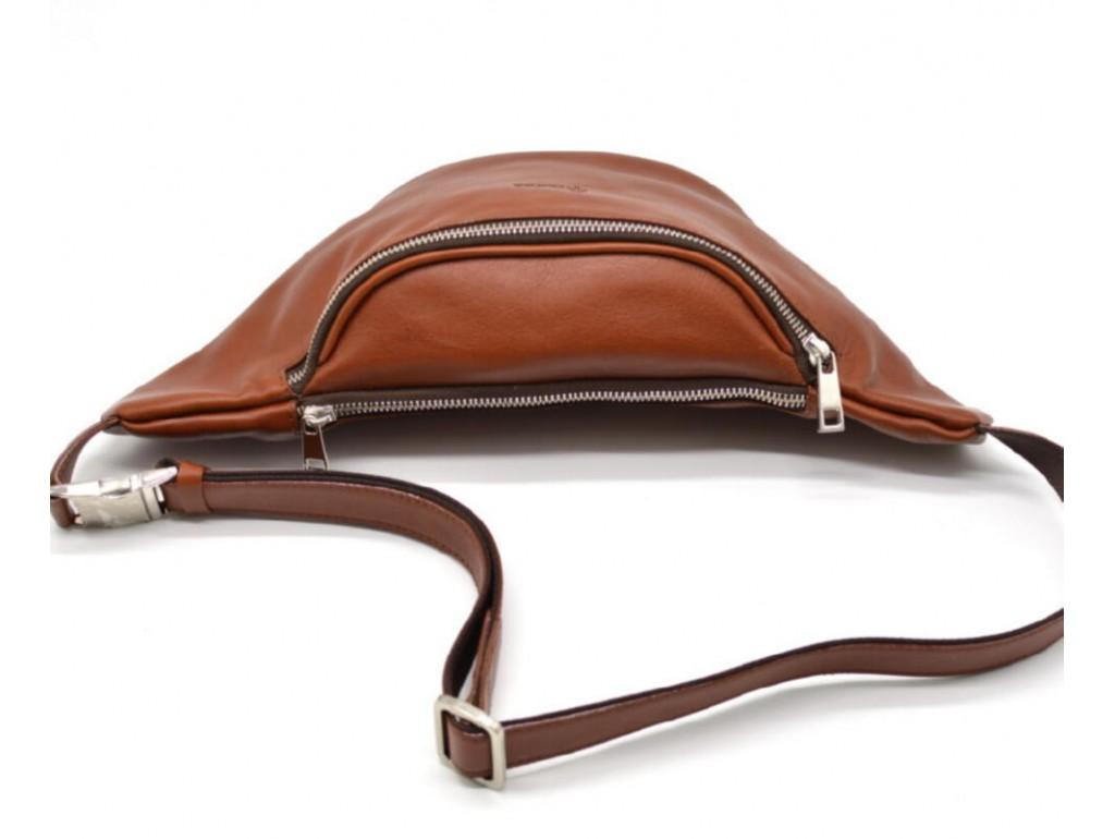 Стильная сумка на пояс бренда TARWA GB-3036-4lx в рыжевато-коричневом цвете - Royalbag