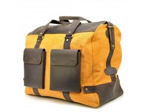Дорожная красивая сумка микс ткани канвас и кожи RY-4353-4lx TARWA - Royalbag