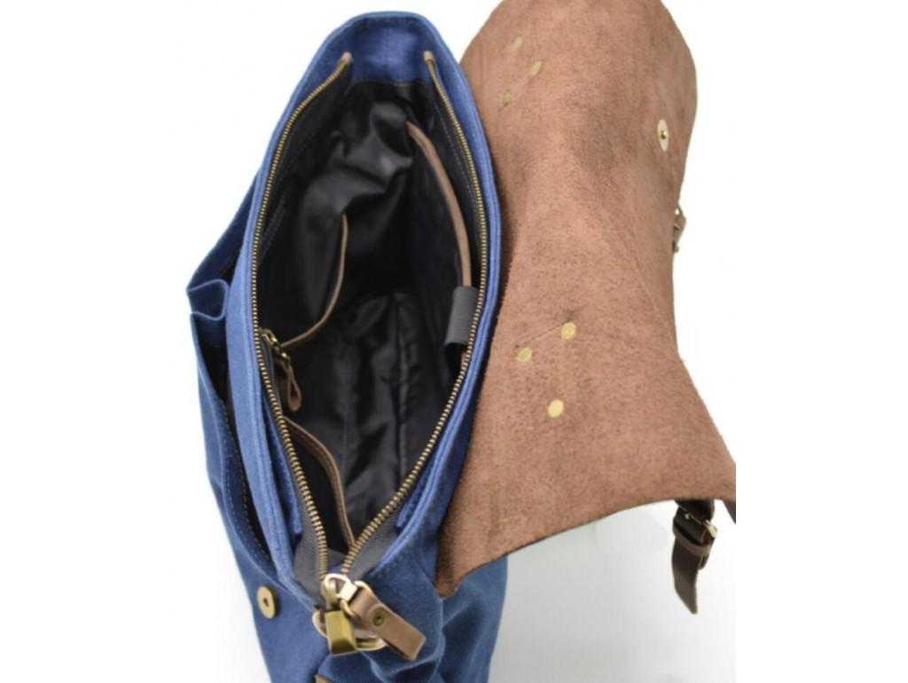 Мужская сумка-портфель кожа+парусина RK-3960-4lx от украинского бренда TARWA - Royalbag
