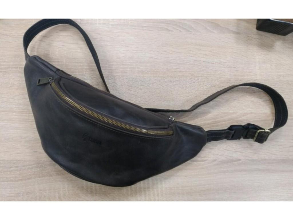 Поясная сумка из гладкой кожи среднего размера ТС-3035-3md бренд TARWA - Royalbag