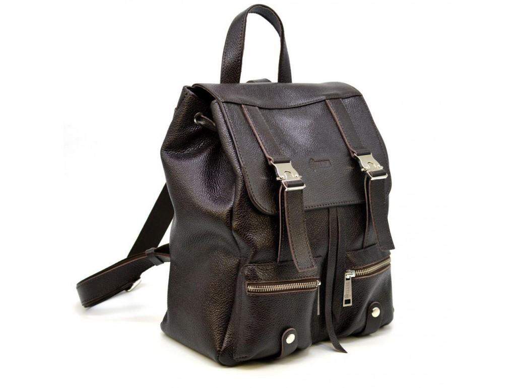 Кожаный рюкзак из кожи флотар FC-3016-4lx TARWA темно-коричневый - Royalbag