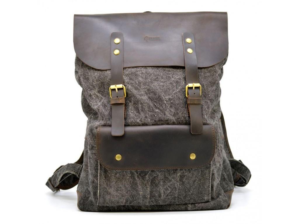 Молодежный рюкзак микс парусины и кожи RGj-9001-4lx TARWA - Royalbag