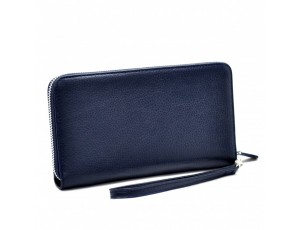 Барсетка кожа мягкая CANPEL 750-241 синий флотар - Royalbag