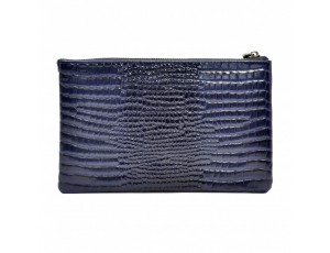 Клатч кожа Desisan 0070-634 синий кроко лак - Royalbag