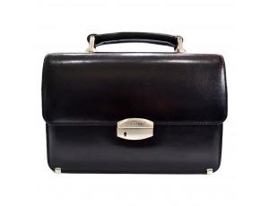 Барсетка кожа Desisan 1087-1 черный гладкий - Royalbag