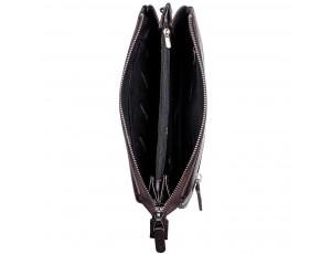 Барсетка кожа мягкая DESISAN 1011-09 коричневый гладкий - Royalbag