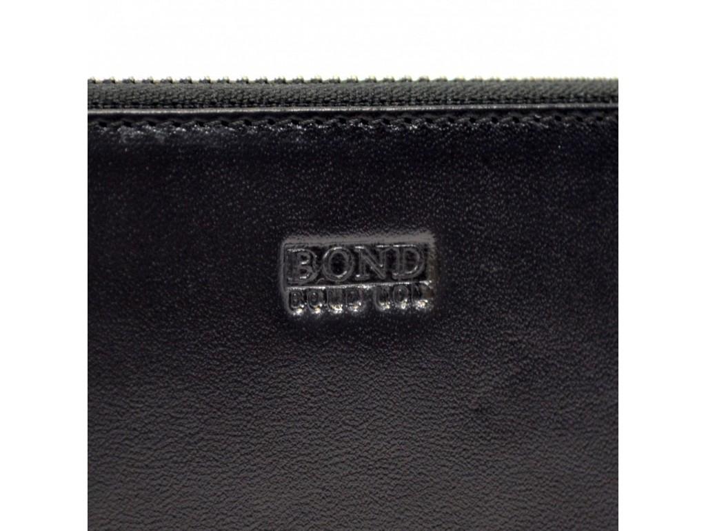Барсетка кистевая BOND 867-1 черный гладкий - Royalbag