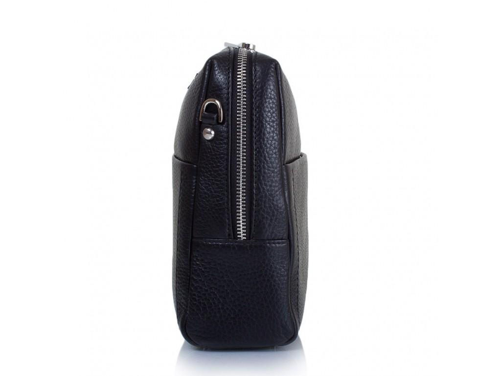 Сумка маленькая кожа KARYA 0693-45 черный флотар - Royalbag