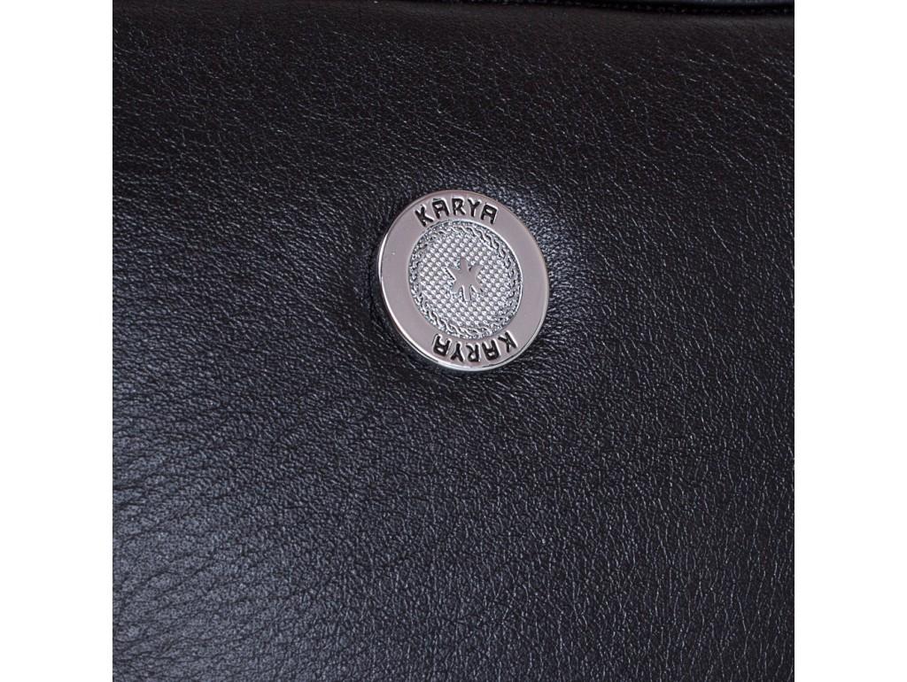 Барсетка мягкая кожа KARYA 0712-45 черный флотар - Royalbag