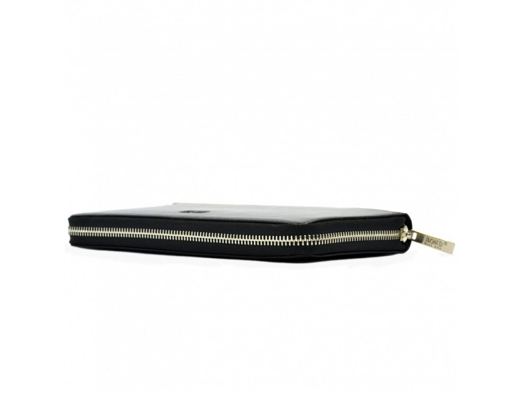 Барсетка кистевая BOND 864-1 черный гладкий - Royalbag