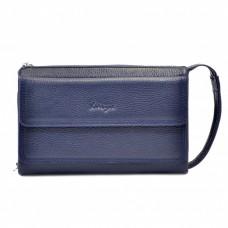 Барсетка мягкая кожа KARYA 0714-44 синий флотар - Royalbag