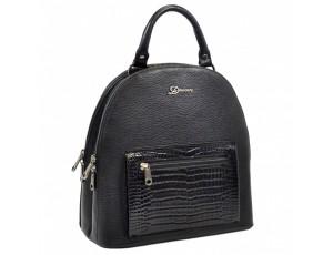 Рюкзак кожа Desisan 6001-011 черный флотар - Royalbag