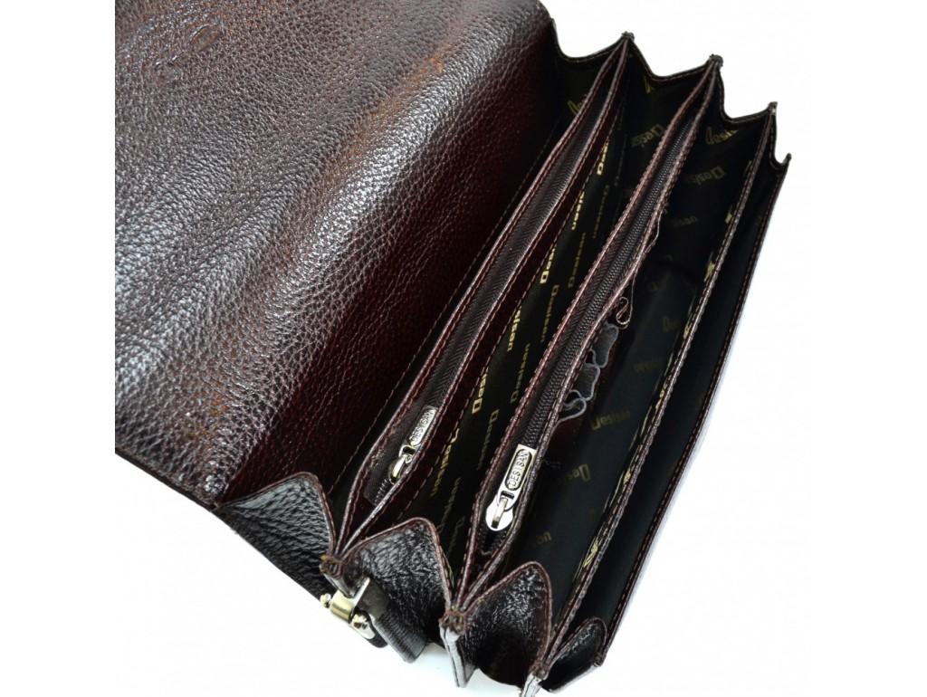 Барсетка кожа Desisan 523-019 коричневый флотар - Royalbag