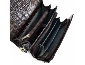 Барсетка кожа DESISAN 248-19 коричневый кроко - Royalbag
