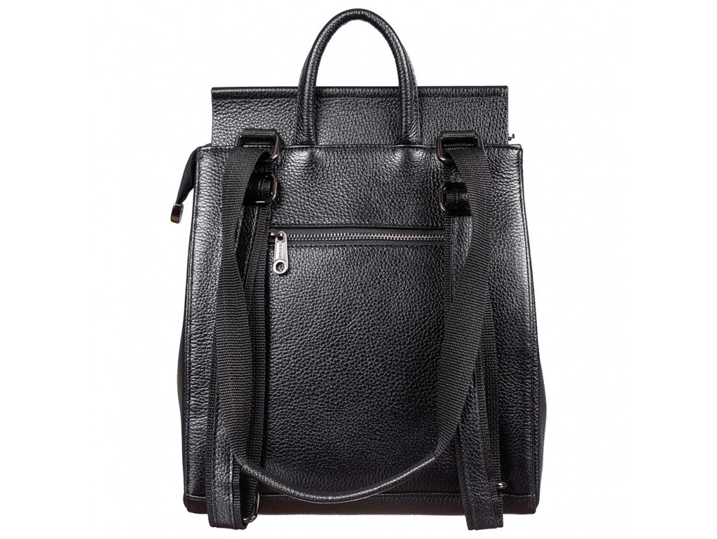 Рюкзак кожа Desisan 3023-011 черный флотар - Royalbag