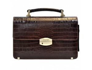 Барсетка кожа Desisan 1086-19 коричневый кроко - Royalbag