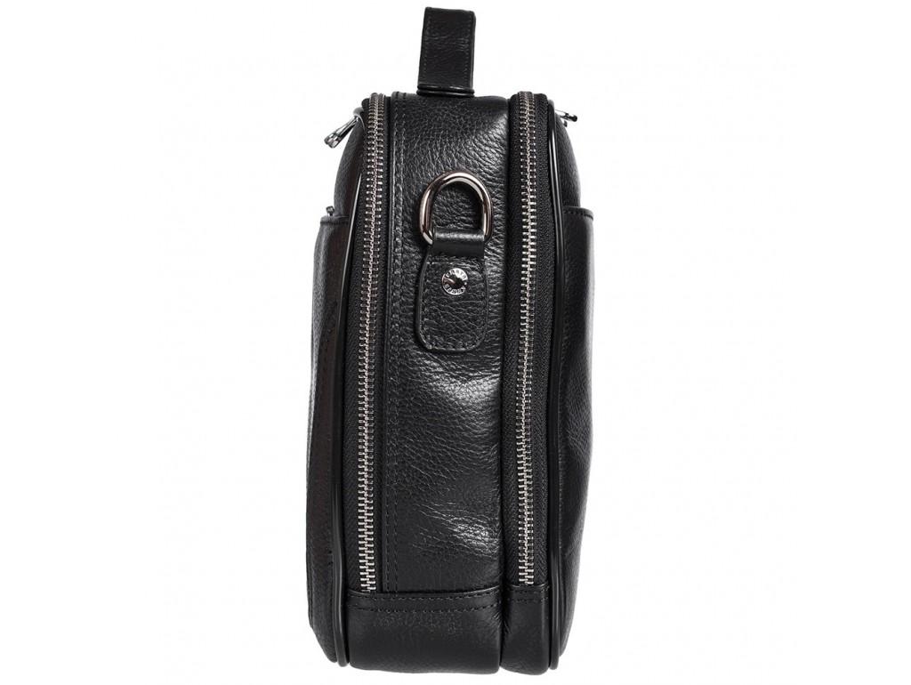 Барсетка мягкая кожа KARYA 0753-45 черный флотар - Royalbag