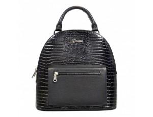 Рюкзак кожа Desisan 6001-633 черный мелкий кроко - Royalbag