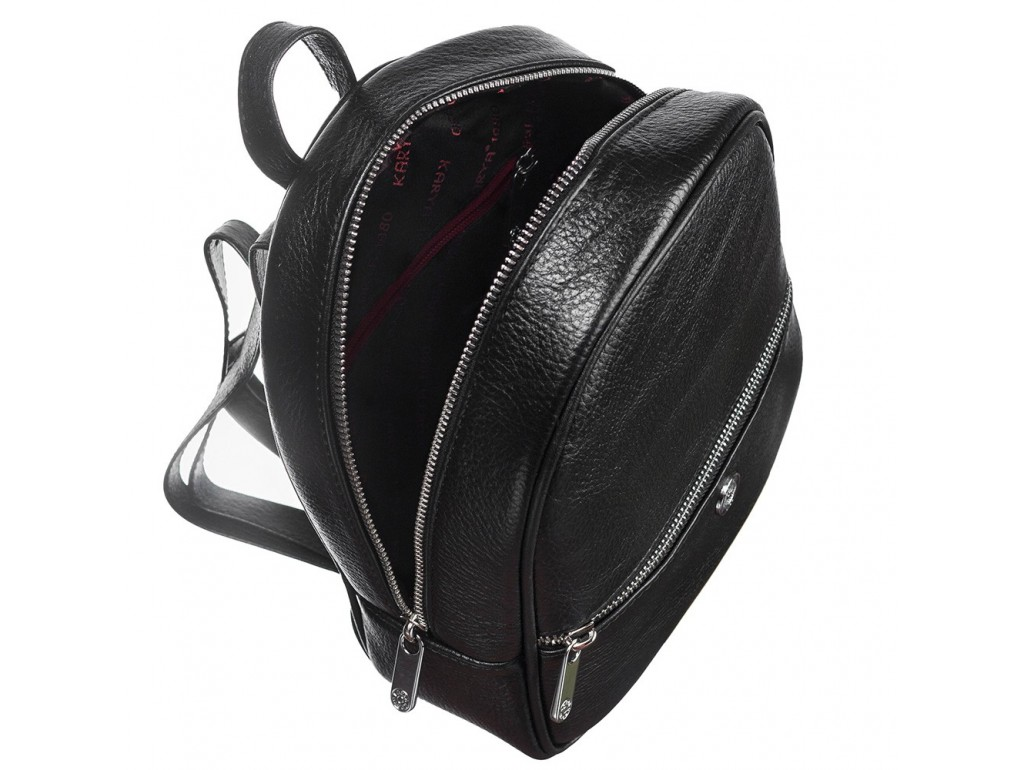 Рюкзак кожа KARYA 6005-45 черный флотар - Royalbag