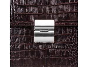 Портфель кожа Desisan 205-19 коричневый кроко - Royalbag