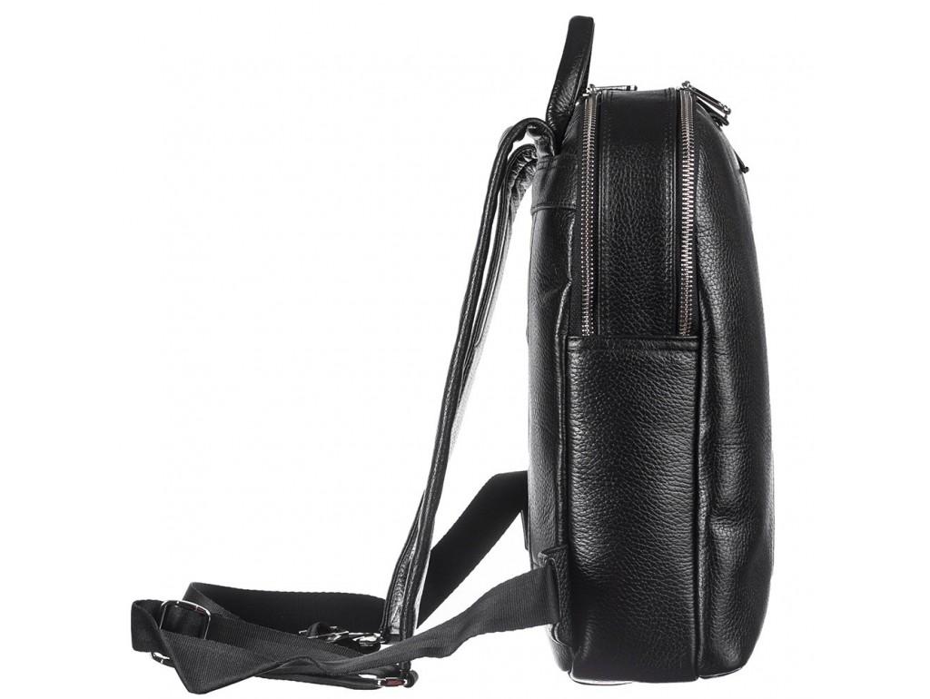 Рюкзак кожа KARYA 6004-45 черный флотар - Royalbag