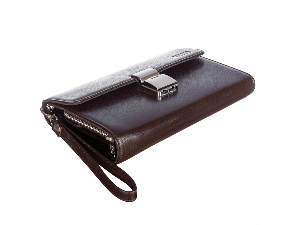 Барсетка кистевая BOND 887-286 коричневый флотар - Royalbag