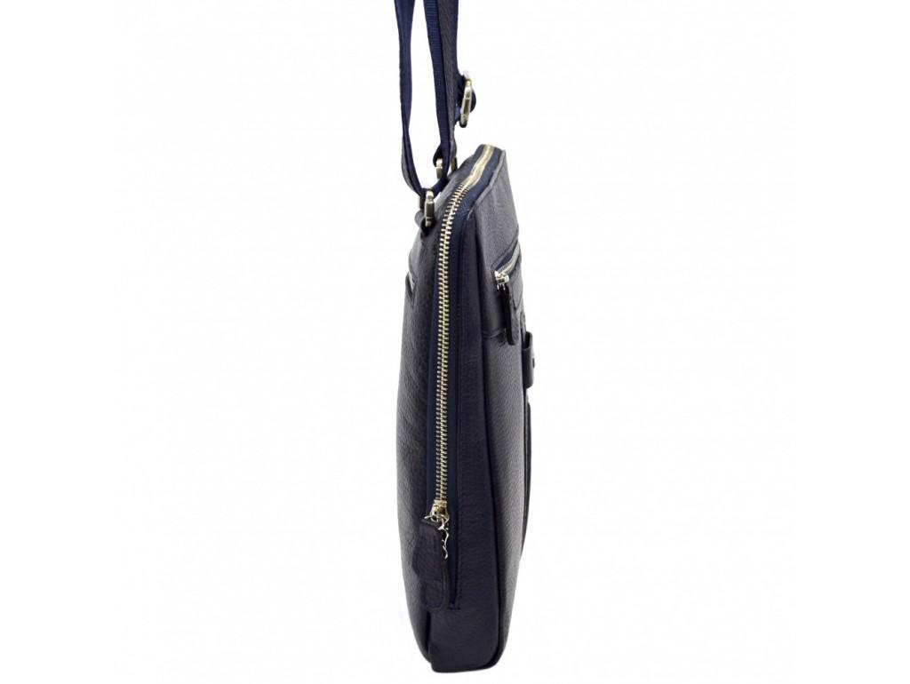 Барсетка кожа мягкая DESISAN 1350-315 синий флотар - Royalbag